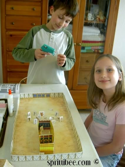 My kids and I are loving this  Tabernacle Model For Kids