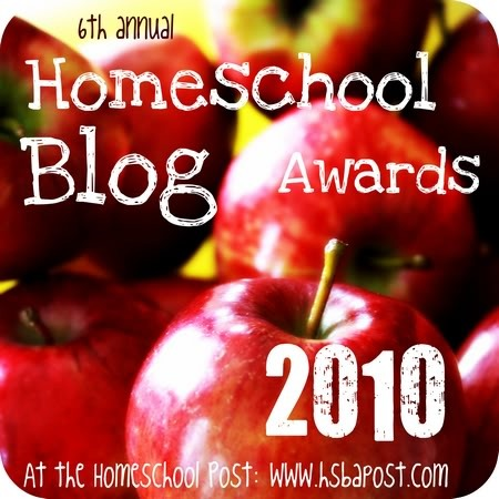 homeschool blog awards 2010