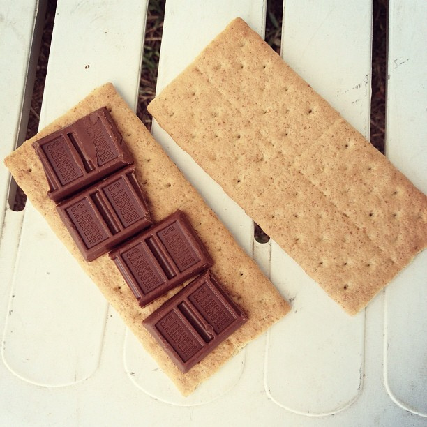 Hershey's Chocolate S'mores #campbondfire #ilove #hersheys #smores