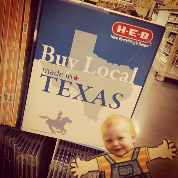 Buy local! #Texas rocks! #heb #austin