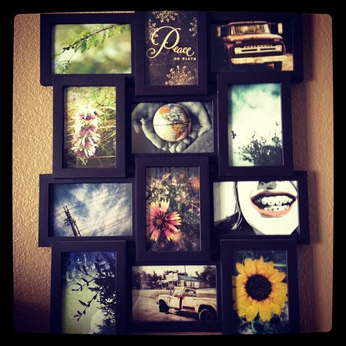 And so I got some of my Instagram photos printed for this frame. #love