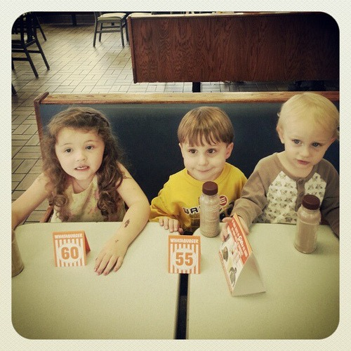 Whataburger Kids (@mathfour 's K8 and my little guys)