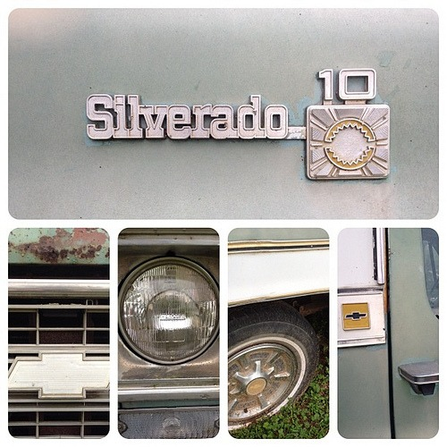 Silverado #marchphotoaday #iphonetx #country #retro #old #rustic #truck #blue #texas #chevy #jj #gang_family