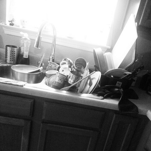 Keepin' it real. #kitchen #mess #sink