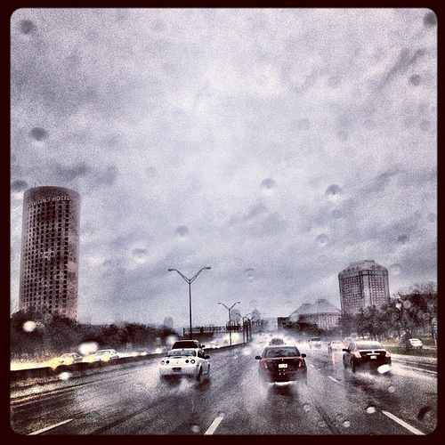Leaving #momheart and Las Colinas in the rain