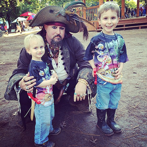 Pirate pals. #renfest #latergram #fieldtrip #preschool