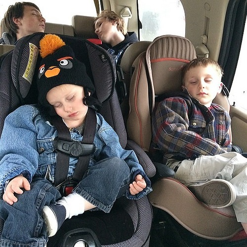 I'd say this weekend was a success. Long winter's nap in progress x4 ... #sleepyheads