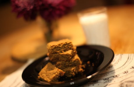 Flourless, Honey-Sweetened Peanut Butter Brownies