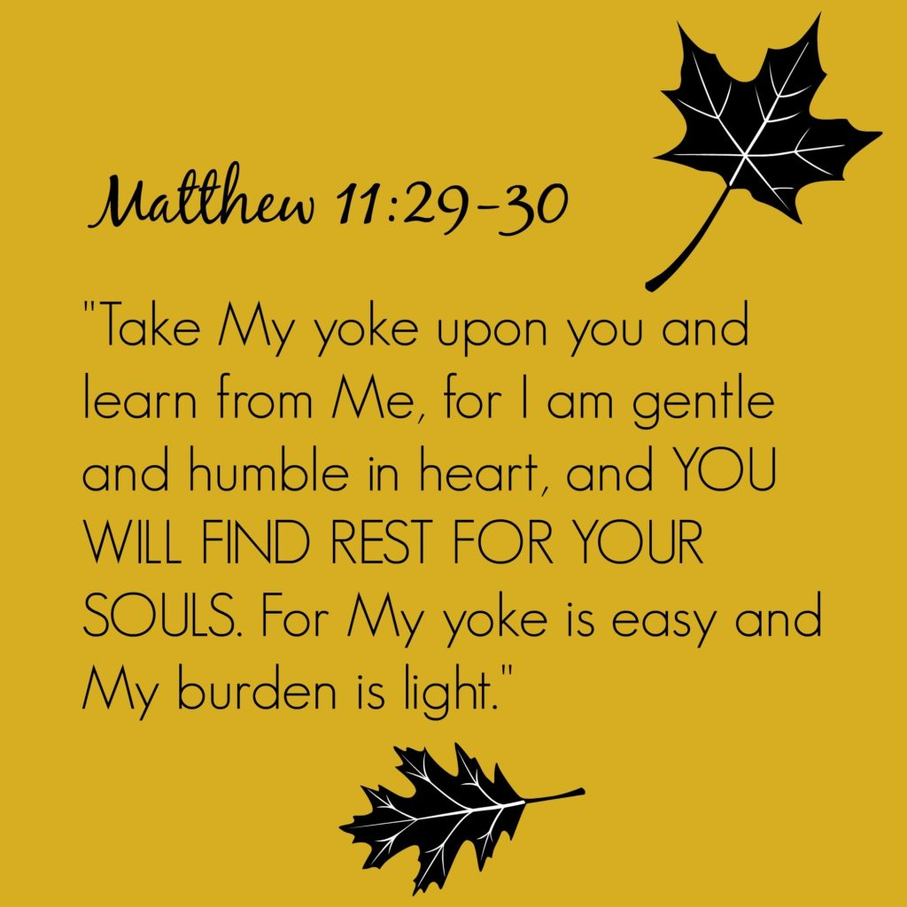 His Yoke is Easy, His Burden Light