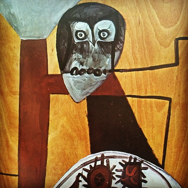 "Picasso's ""Owl on a Chair and Sea Urchins"""