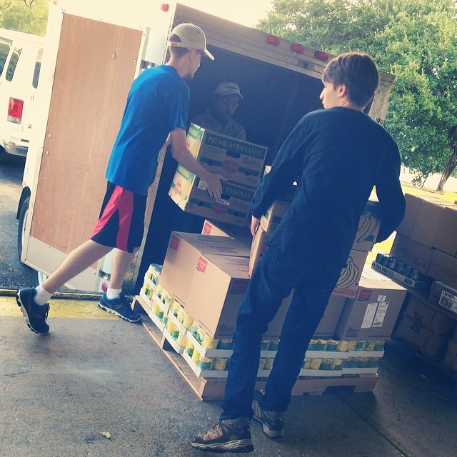 Food Pantry Loading