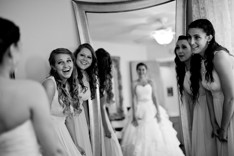 Bridesmaids Oooing and Ahhhing