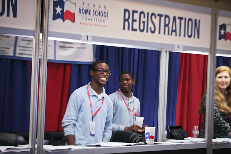 THSC Arlington 2015 - registration booth by @sprittibee