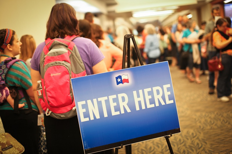 THSC Arlington 2015 - Registration Line via @sprittibee