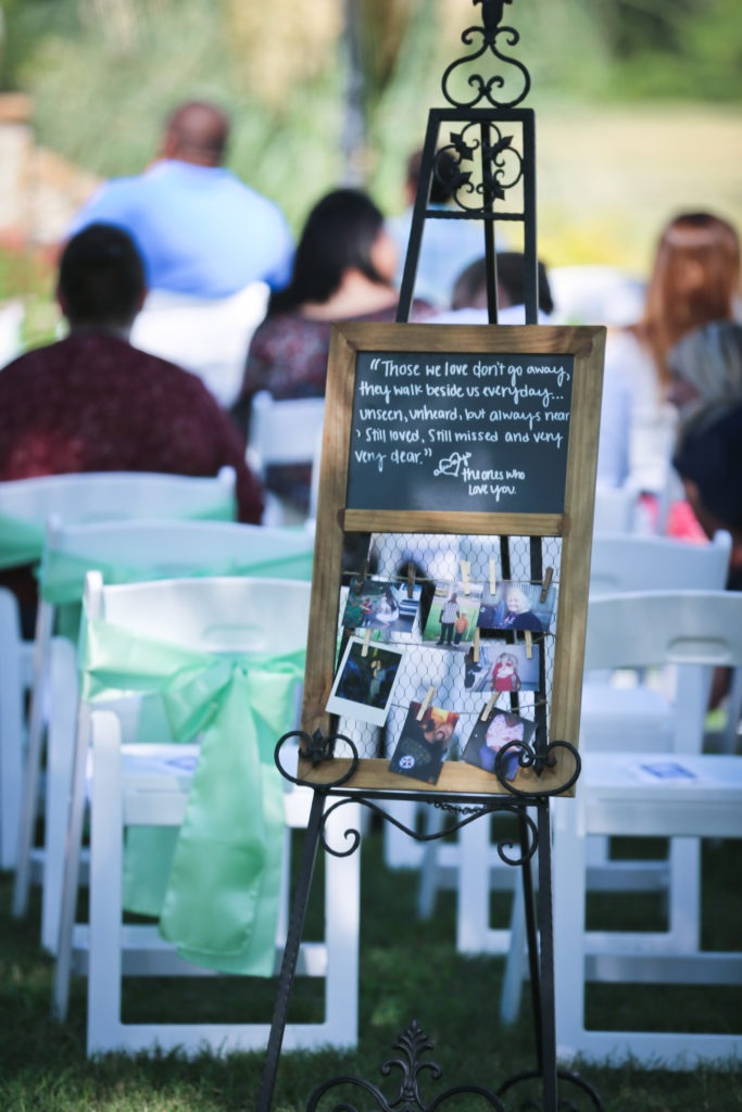 Remembering Lost Loved Ones at a Wedding via Sprittibee Photography
