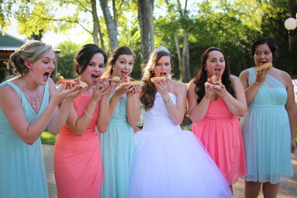 Pizza Wedding via Sprittibee Photography