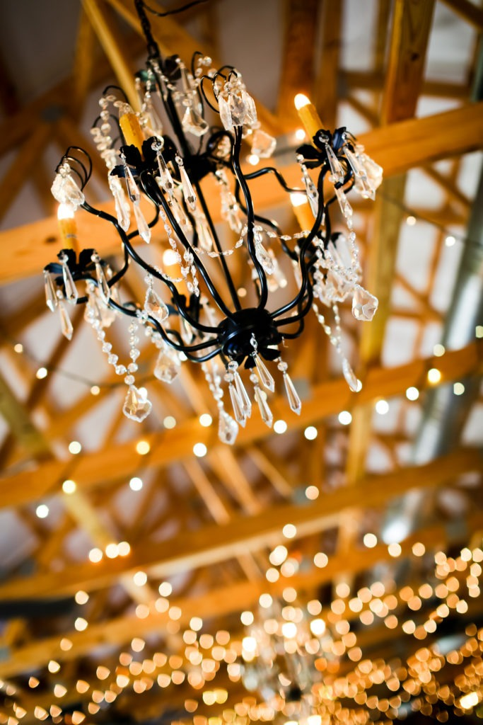 Bridal Barn Chandelier via Sprittibee Photography
