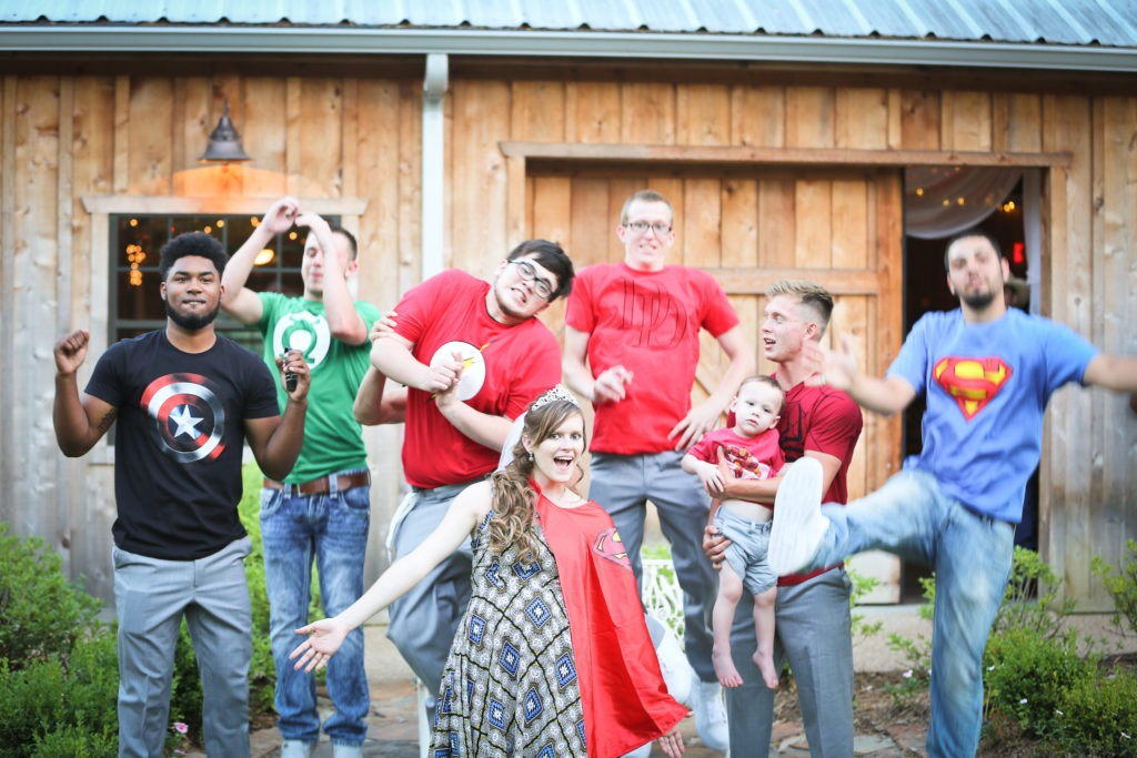 Superhero Reveal Longview Wedding via Sprittibee Photography