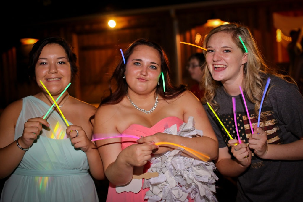Glowstick Wedding via Sprittibee Photography