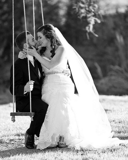 Swinging with Shawn and Brittany at their Pecan Springs Ranch Austin Wedding by Sprittibee Photography