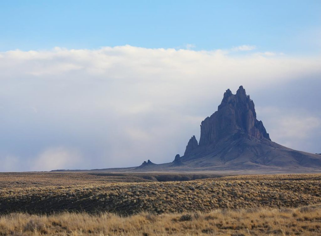 Shiprock in the Clouds via @sprittibee Photography