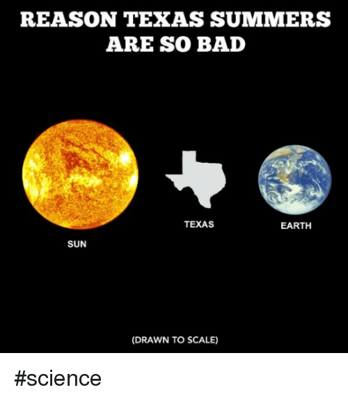 texas summers - science meme