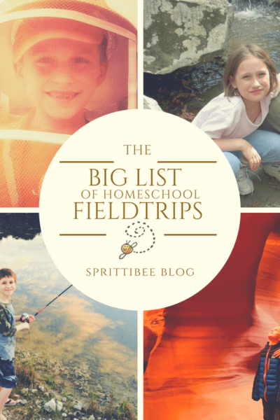 Big List of Homeschool Field Trips via @sprittibee